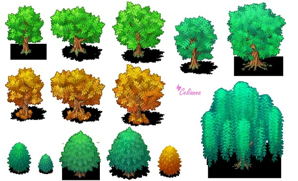 "Celianna's Parallax Tiles ""Trees 3"""