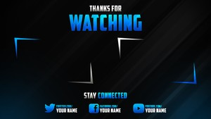 The Best 2D Youtube Outro Template 2016!!