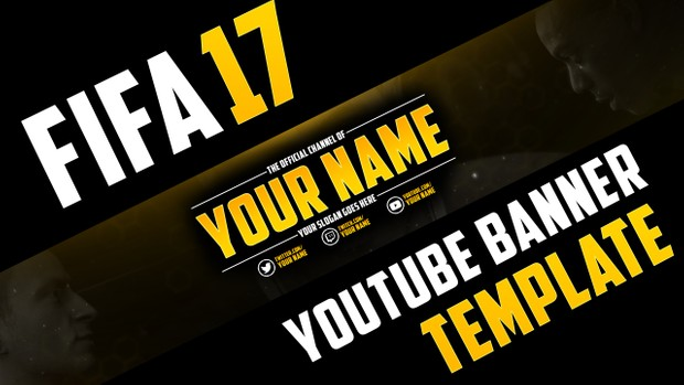 FIFA 17 YOUTUBE BANNER TEMPLATE