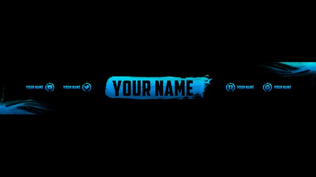 CLEAN 2D YOUTUBE BANNER TEMPLATE 2016