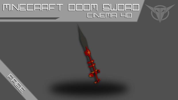 Minecraft Doom Sword Model [Cinema 4D] - OzanArtz