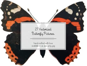 27 Vectorized Butterfly Pictures