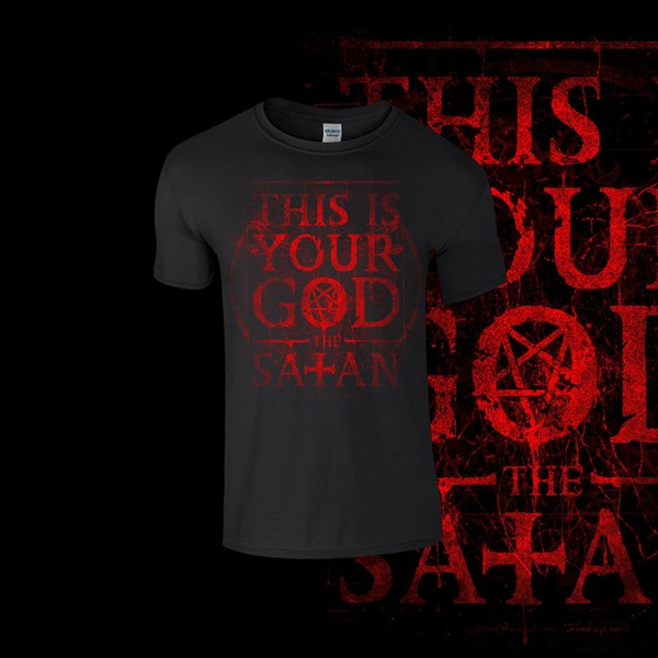"The Satan  "" This is your God""  (Blood Red Print)"