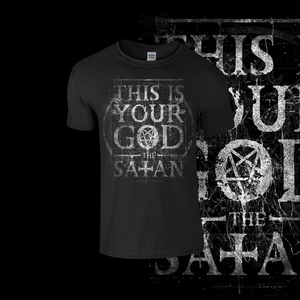 "The Satan  "" This is your God""  (Silverwhite Print)"