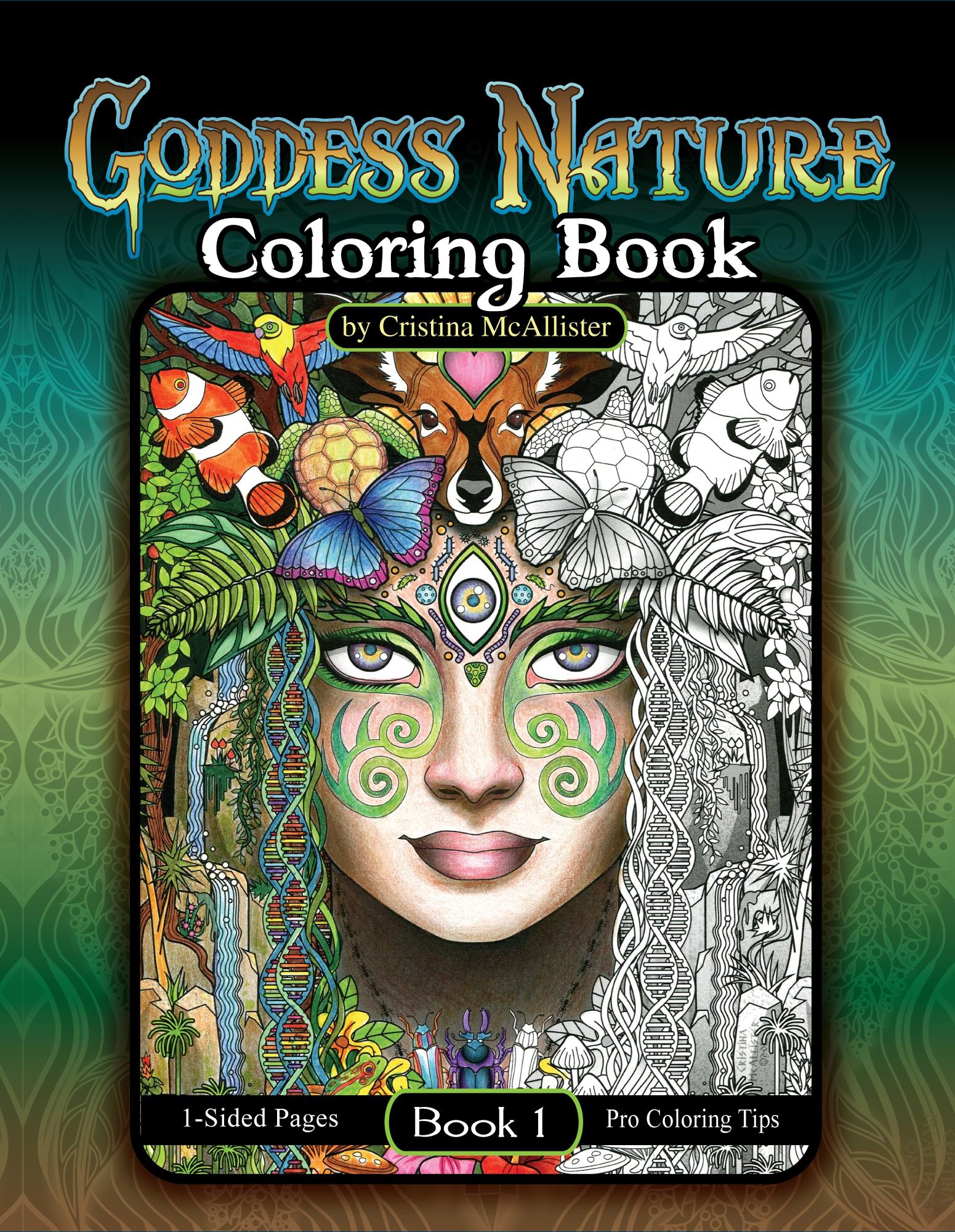 Goddess Nature Coloring Book Book 1 Download Cristina Mcallister