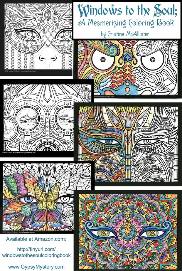 Windows to the Soul Coloring Book - 30 Print-Your-Own Coloring Pages