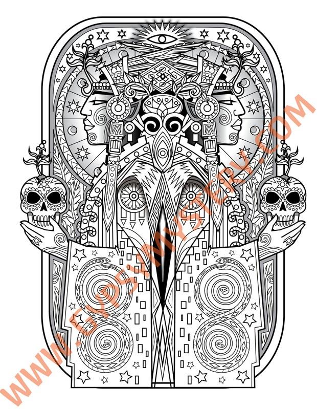 Espiritus Coloring Book, Book 3