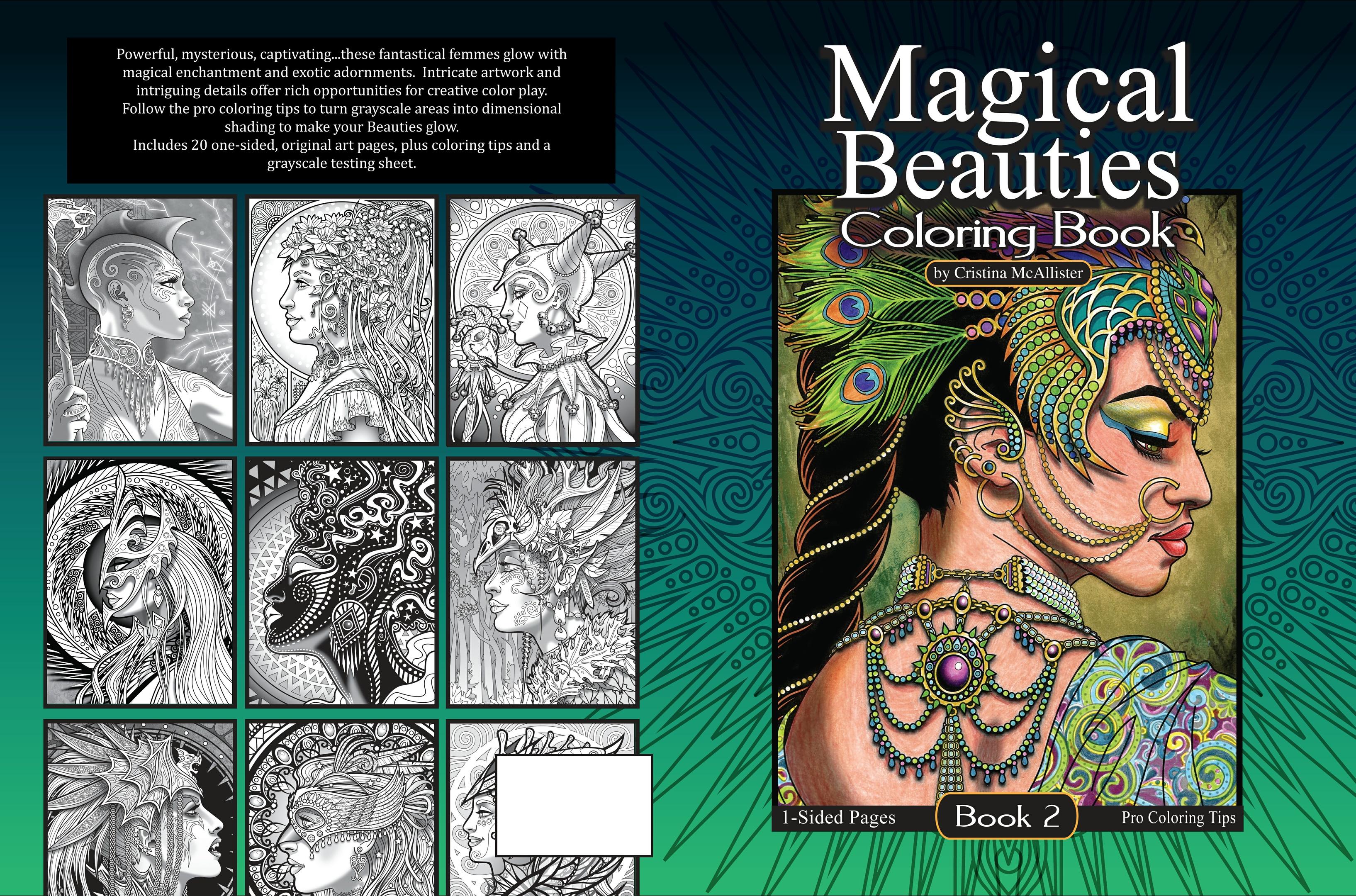- Magical Beauties Book 2 - 20 Print-Your-Own Coloring P - Cristina