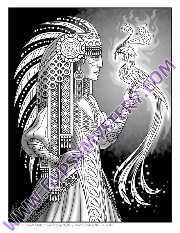 Goddess Nature Coloring Book, Book 1 Download