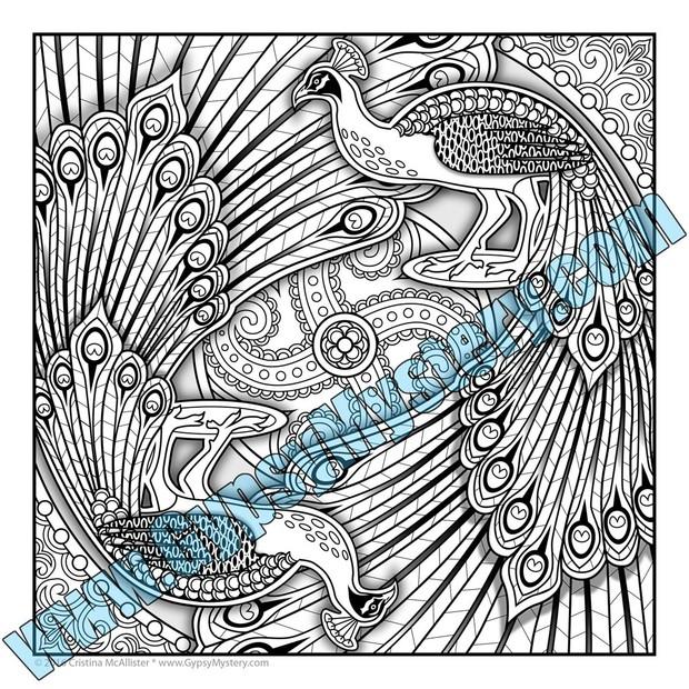 Mandala Carnival Print Pack #2 - 12 Printable Coloring Pages by Cristina McAllister