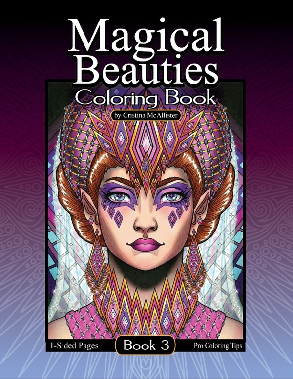 Magical Beauties Coloring Book #3