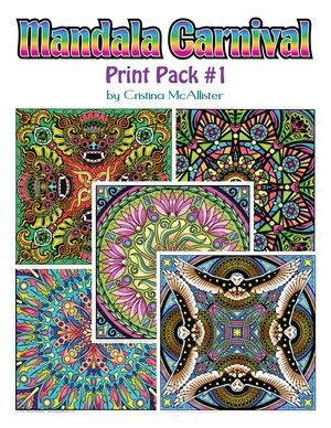 Mandala Carnival Print Pack #1 - 12 Printable Coloring Pages by Cristina McAllister