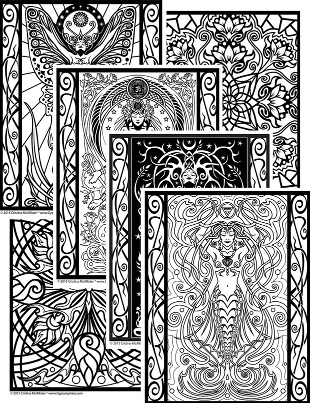 Sacred Beauty Coloring Book - 24 Print-Your-Own Coloring Pages