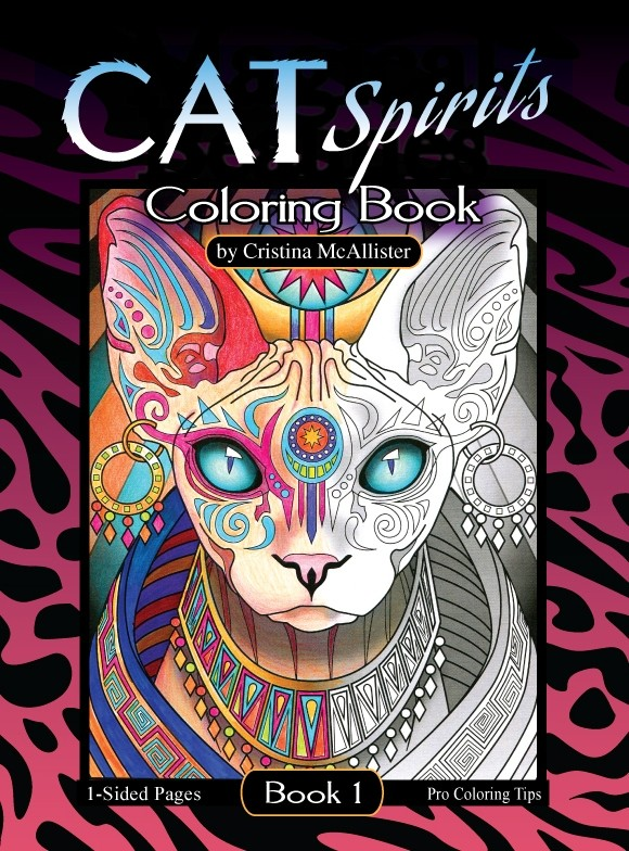 Cat Spirits Coloring Book, Book 1