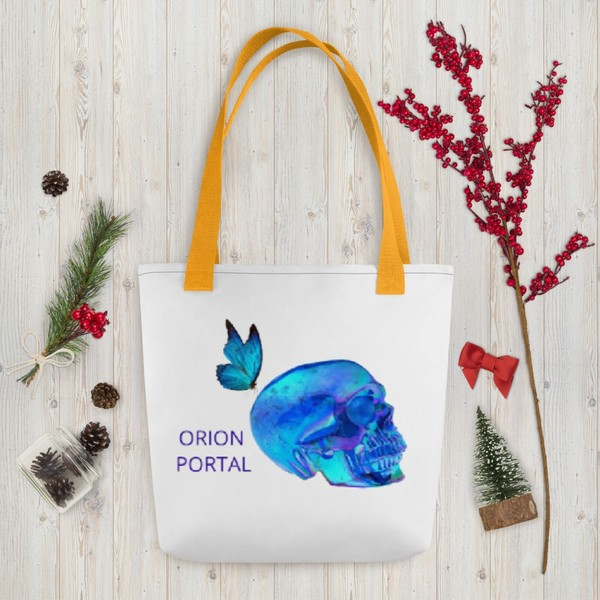 TOTE BAG - TRUTH Codes GOLD HEART & Blue Butterfly Logo