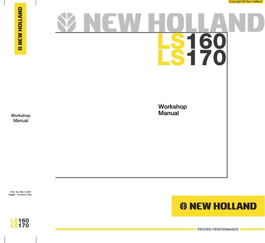 new holland skid steer loader ls160 ls170 workshop se rh sellfy com new holland ls170 service manual new holland ls170 owners manual download