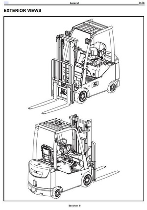 Toyota Diesel Forklift 8FDU15, 8FDU18, 8FDU20, 8FDU25, 8FDU30, 8FDU32 Service Manual & Supplement