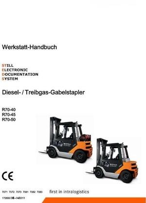 Still Fork Truck R70-40, R70-45, R70-50 Series: R7071-R7073, R7081-R7083 Workshop Manual