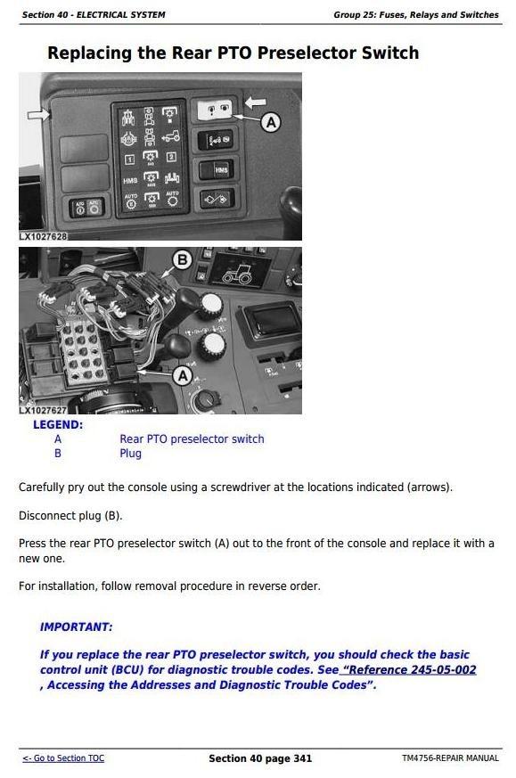 John Deere 6820, 6920 and 6920S Tractors Service Repair Manual (TM4756)