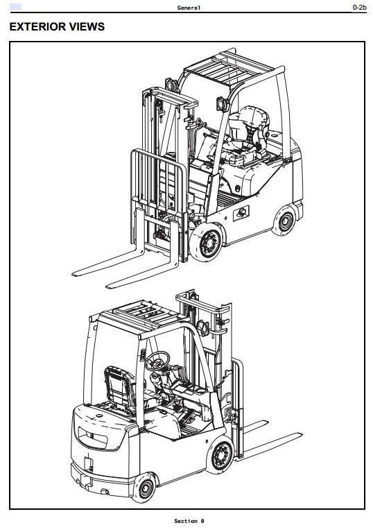 Toyota LPG Forklift 8Series 8FGU15 8FGU18 8FGU20