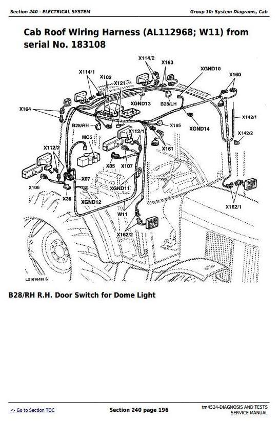 John Deere 6200, 6200L, 6300, 6300L, 6400, 6400L, 6500, 6500L Tractors Diag. & Tests Manual (tm4524)