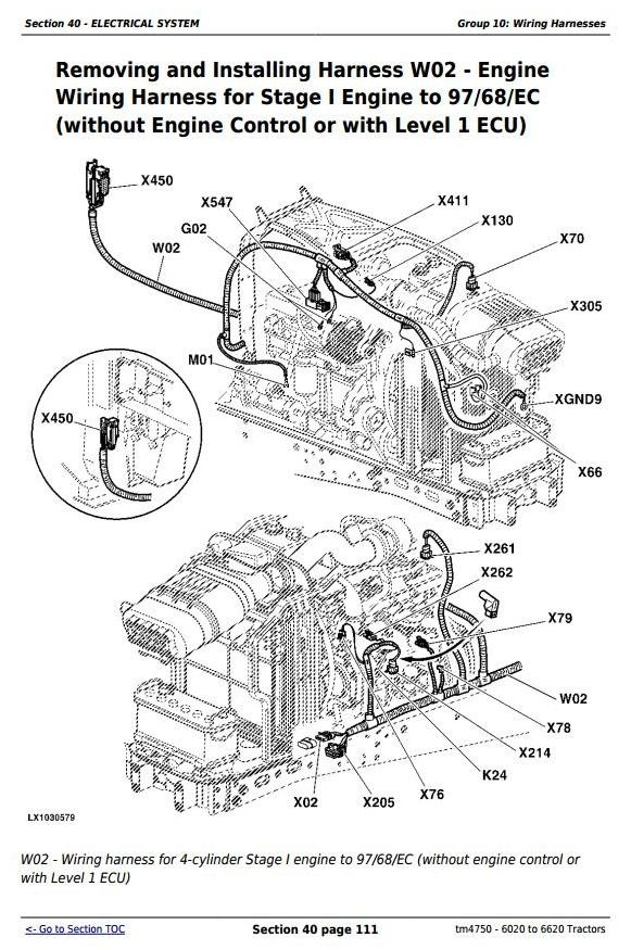 John Deere 6420 Wiring Diagram - Electrical Systems Diagrams