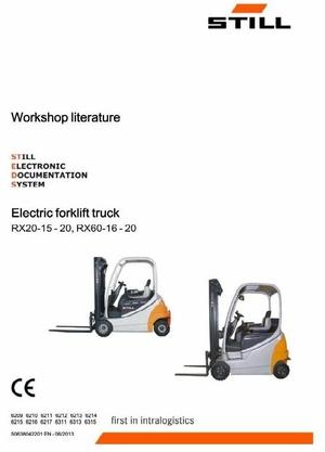 Still Electric Forklift RX20-15, RX20-16, RX20-18, RX20-20, RX60-16, RX60-18, RX60-20 Service Manual