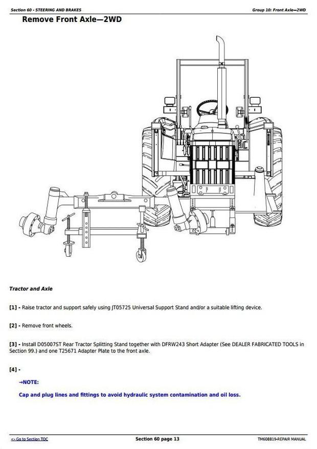 John Deere 6100D, 6110D, 6115D, 6125D & 6130D Tractors Service Repair Manual (TM608819)