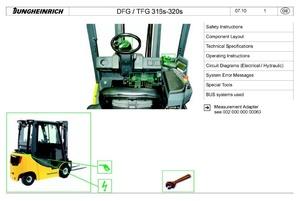 Jungheinrich Truck DFG316S, DFG320S, TFG316S, TFG 320S (12.2009-11.2014) Workshop Manual
