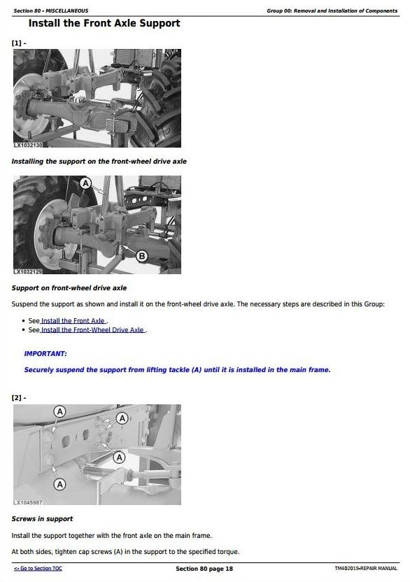 John Deere 5070M, 5080M, 5090M & 5100M  - European Tractors Service Repair Manual (TM402019)