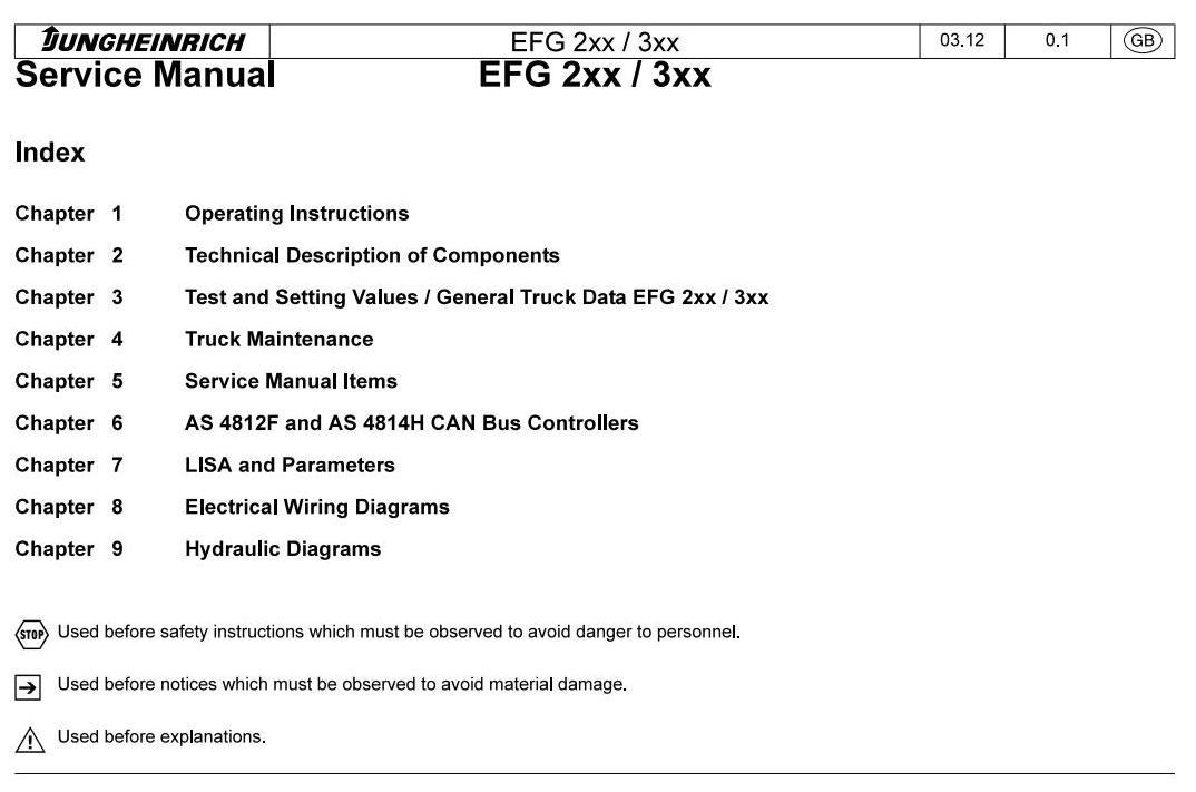 jungheinrich electric lift truck efg series 216kn (fr alternating relay wiring diagram jungheinrich electric lift truck efg series 216kn (from 12 2008) workshop manual