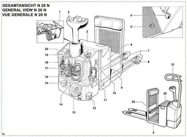 Linde Electric Order Picker Type 145: N20N Operating Instructions (User Manual)