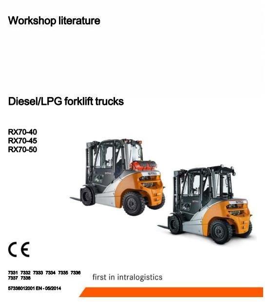 Still Forklift Truck RX70-40,-45,-50: 7331, 7332, 7333, 7334, 7335, 7336, 7337, 7338 Workshop Manual