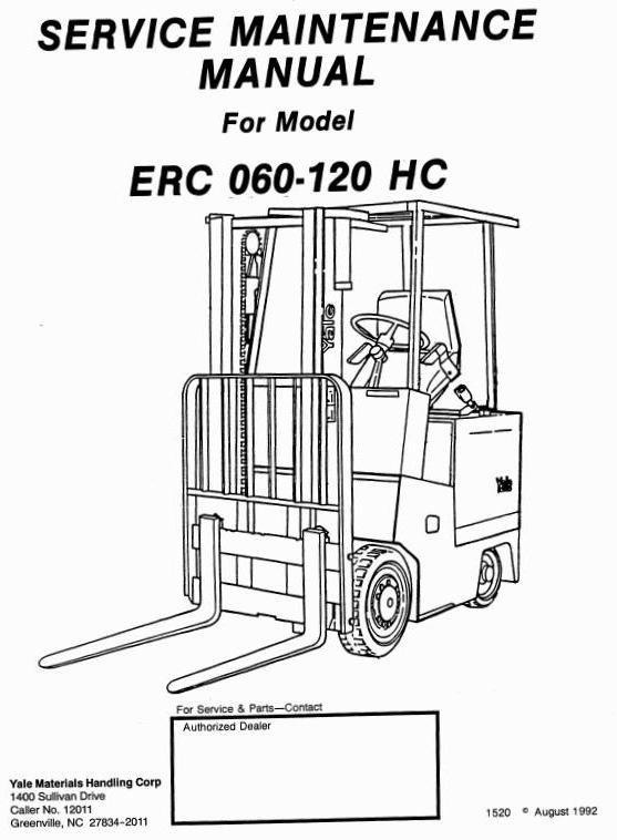 Yale glc050 forklift Manual