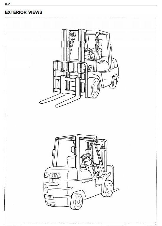 Toyota LPG Gorklift Truck 6FGCU33, 6FGCU35, 6FGCU45 Workshop Service Manual