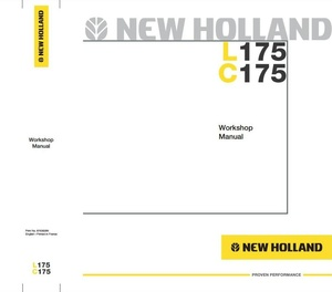 New Holland Skid Steer Loader C175, L175 Workshop Service Manual
