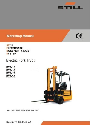 Still Electric Lift Truck Type R20-15, R20-16, R20-17, R20-20: 2001-2007 Workshop Manual