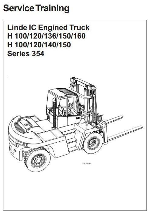 Linde Forklift Truck H354 Series: H100, H120, H136, H1