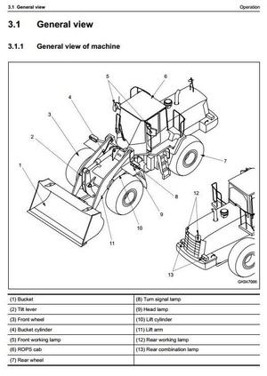 Komatsu Wheel Loader  WA470-6 sn H50051 and up Operating and Maintenance Instructions