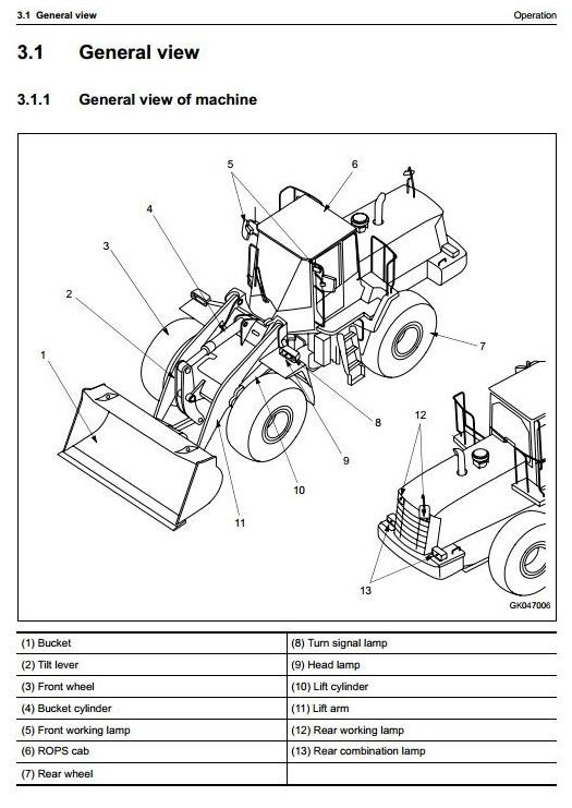 Komatsu Wheel Loader  WA470-6 sn H50051 and up Operating and Maintenance Instructions