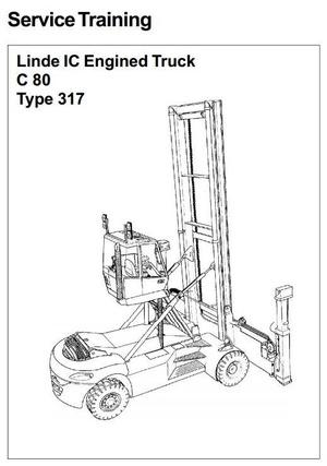 Linde Container Handler Type 317: C80/3, C80/4, C80/5, C80/6 Service Training (Workshop) Manual