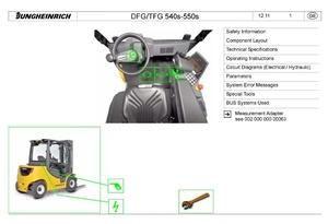 Jungheinrich Truck DFG540S, DFG545S, DFG550S, TFG540S, TFG545S, TFG550S Workshop Manual