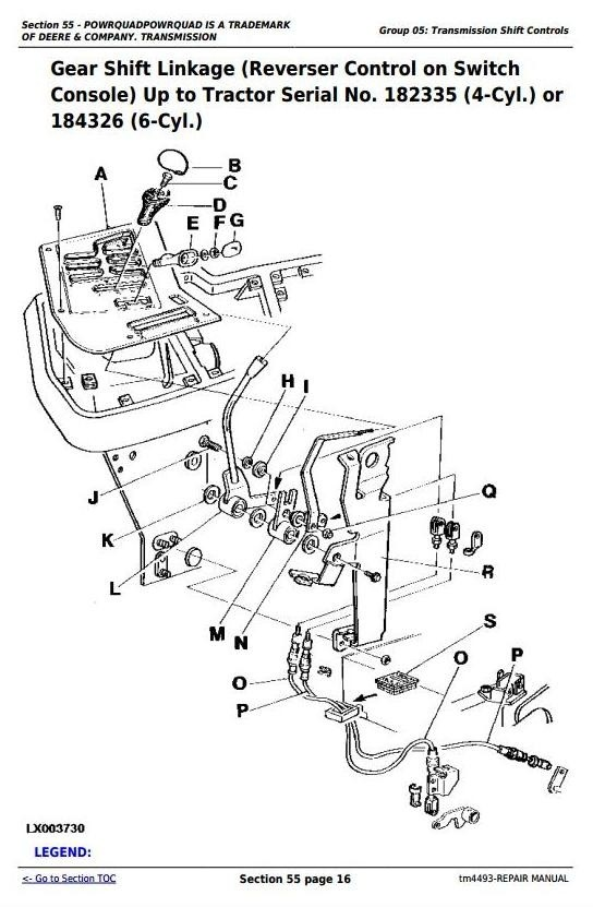 John Deere 6100, 6200, 6300, 6400, 6506, 6600, SE6100, SE6200, SE6300 Tractor Repair Manual (tm4493)