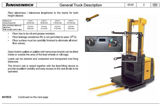 Jungheinrich Order Picker EKS 308 (03.2006-01.2010) Workshop Service Manual