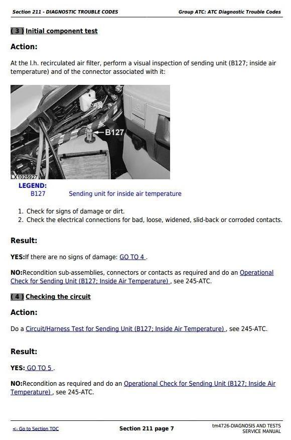 John Deere 6020,6120,6220,6320, 6420,6620,6820,6920 Tractors Diagnosis&Tests Service Manual (tm4726)