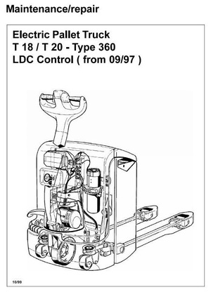 Linde Electric Pallet Truck Type 360: T18, T20 Service Training (Workshop) Manual