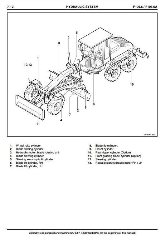 New Holland Graders F106.6, F106.6A Workshop Service Manual
