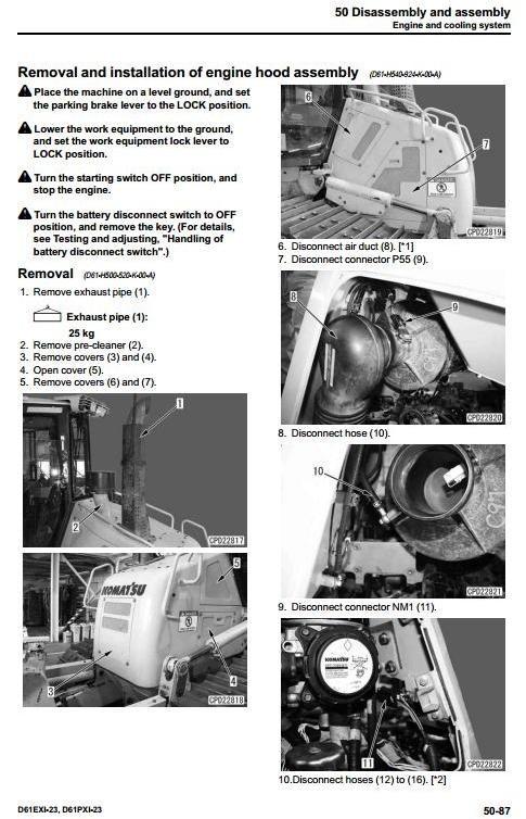 Komatsu Crawler Dozers D61EXi-23 sn:30324 and up, D61PXi-23 sn:30324 and up Service Manual