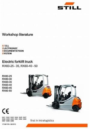 Still Electric Forklift Truck RX60-25, RX60-30, RX60-35, RX60-40, RX60-45, RX60-50 Service Manual