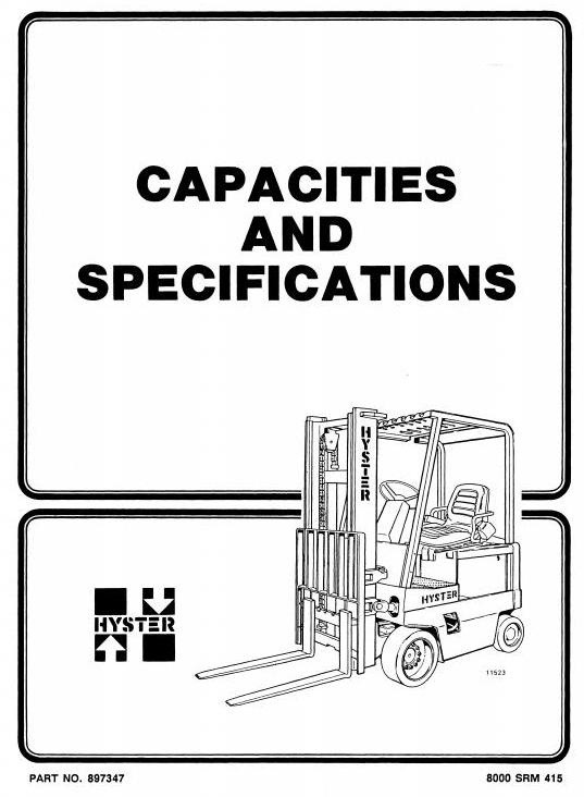 Hyster Electric Forklift Truck Type C098: E3.50XL, E4.00XL, E4.50XLS, E5.50XL Workshop Manual